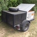 2 run dog trailer for sale